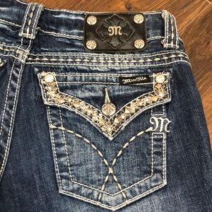 Miss Me Boot Cut Extra Bling-y Jeans- size 28